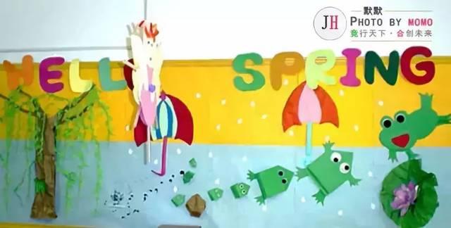幼儿园开园春季手工主题墙环创布置(大,中,小)各年级段很齐全!