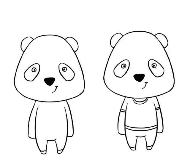 教你用简笔画画萌萌的小动物!