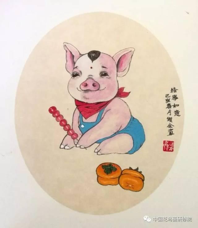 猪年画猪--著名画家陈双全老师公益讲堂授课花絮(附作品欣赏)图片
