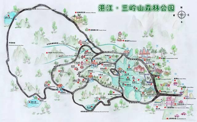 湛江市三岭山森林公园图片