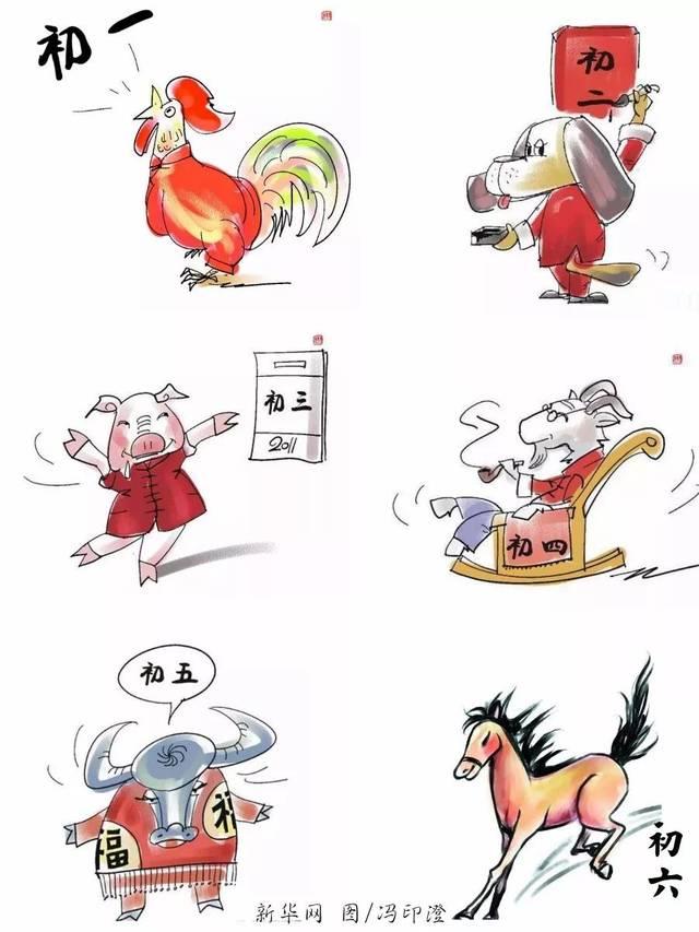 莱阳习俗中,正月初七,十七,二十七为人日图片
