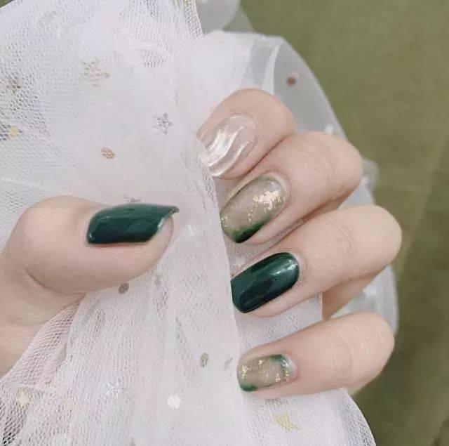 2019春季美甲图片,绿色小清新美甲,让你活力满满