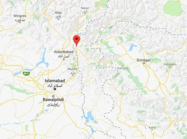 印控克什米尔地区_印度空军多架战机越过印巴实控线穆扎法拉巴德地区,对巴控克什米尔