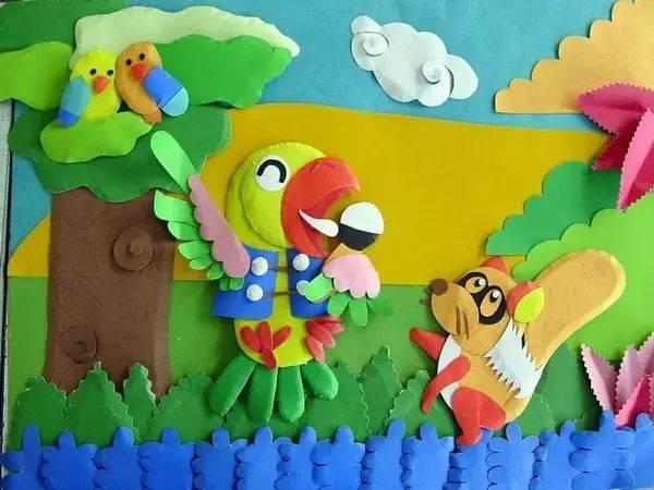 100张幼儿园创意墙面手工粘贴画,让教室美如画!