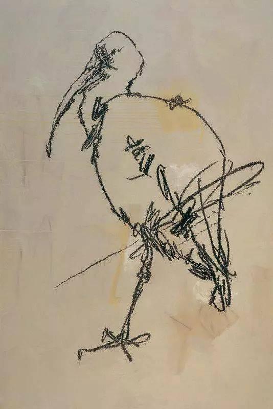 """在古代文人那里,鸟是优雅富贵的象征.但在叶永青笔下,都是些""""丑鸟"""".图片"""