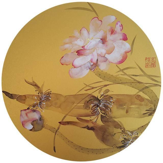 丹青绘彩卷 讴歌新时代-高丽娟美术作品欣赏图片
