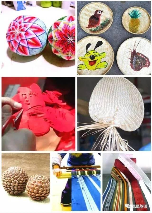 过程展示与现场市民参与diy ,具体有木勺,蒲扇,手鞠球等手工编织制作.
