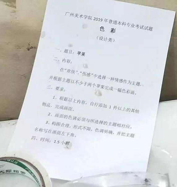 """【广州美术学院】2019年""""设计类""""校考考题图片"""