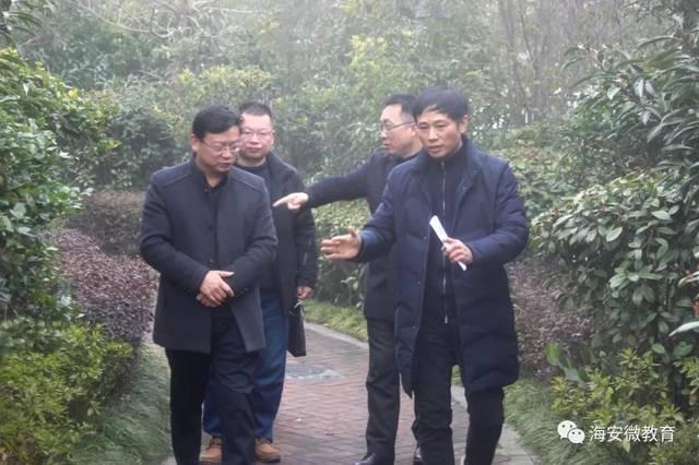 【海安微教育】章晓丽局长调研海陵中学和紫石中学