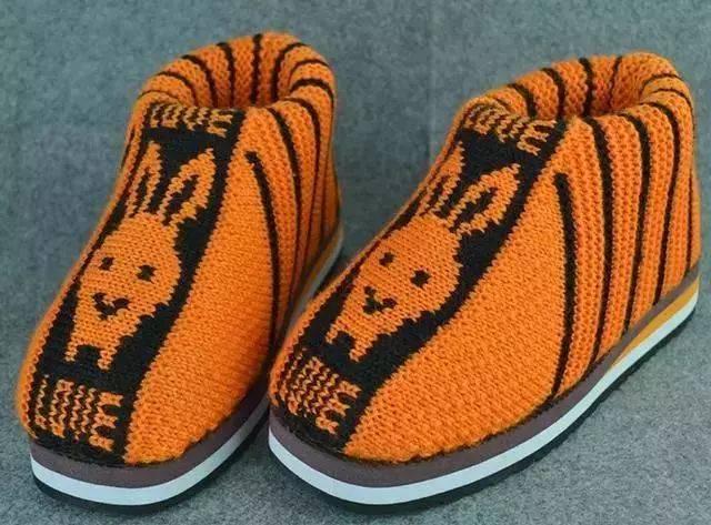 编织达人教大家编织手工棉鞋附简单图解,太暖和了图片