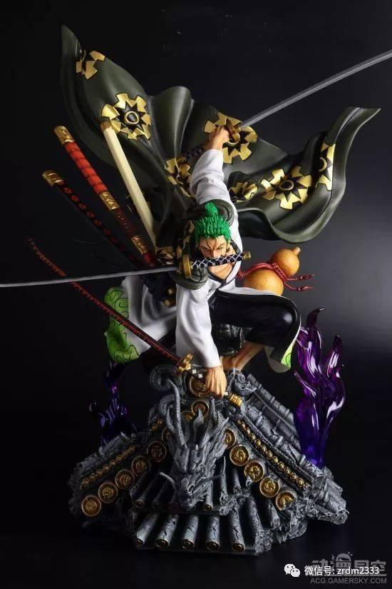 《海贼王》和之国索隆雕像 和服三刀流更具霸气