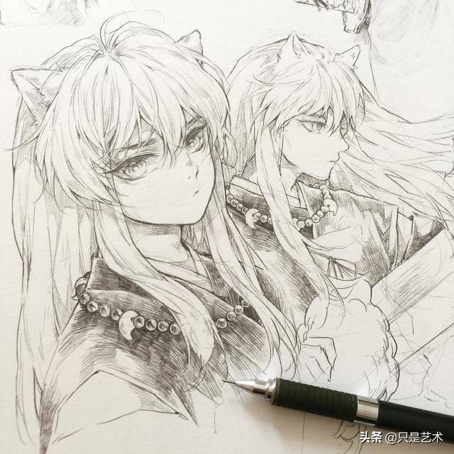 小正太铅笔手绘