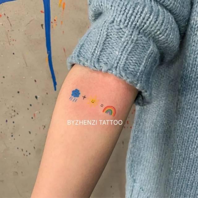 怕疼做不了社会人?3块钱的泫雅同款纹身贴了解一下!图片