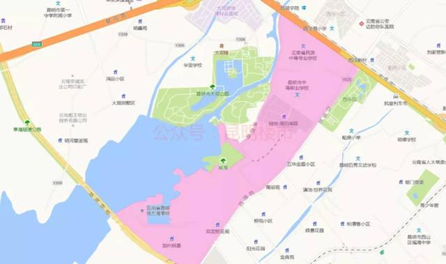 2019昆明小学重点划片v小学小学(地图版)的卡范围图片