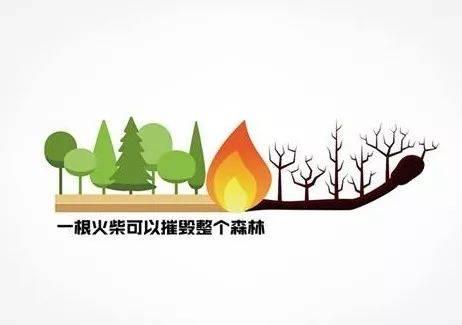 森林防火人人有责,文明祭祀你我同行!图片
