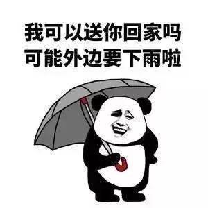 搞笑表情包:我能送你回家吗?可能外面要下雨了