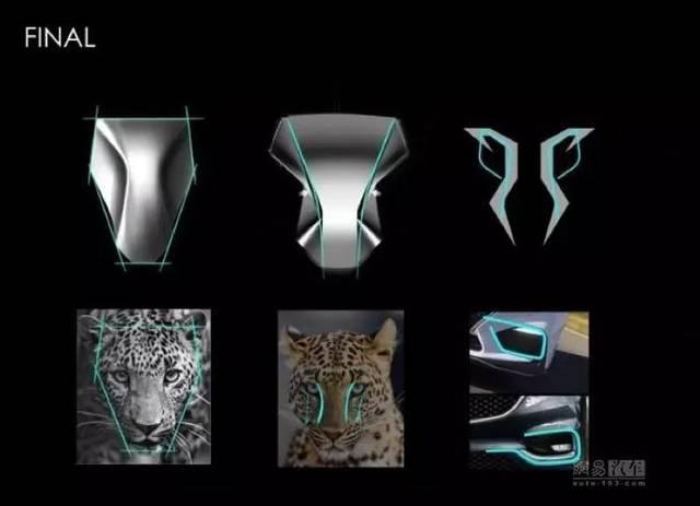 塑造出立体感; 三是形式上从猎豹汽车家族前脸设计上寻找点线面的灵感图片