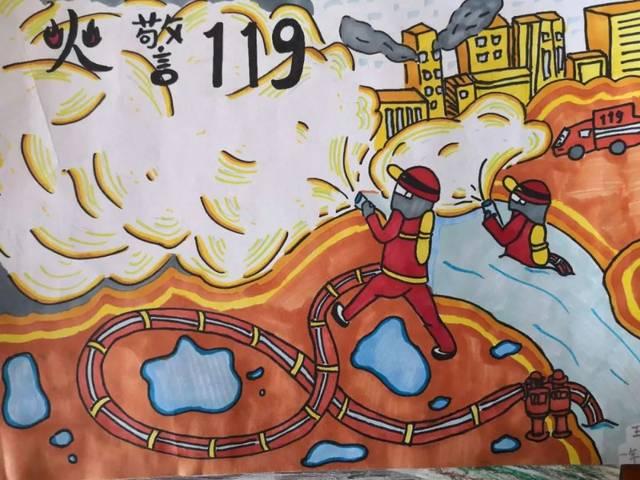南开区消防主题儿童画优秀作品展(二)
