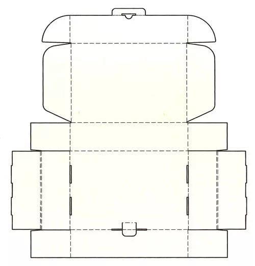 0 1 摇盖式  三角形盘式包装盒结构展开图 单纸盒包装盒的结构设计