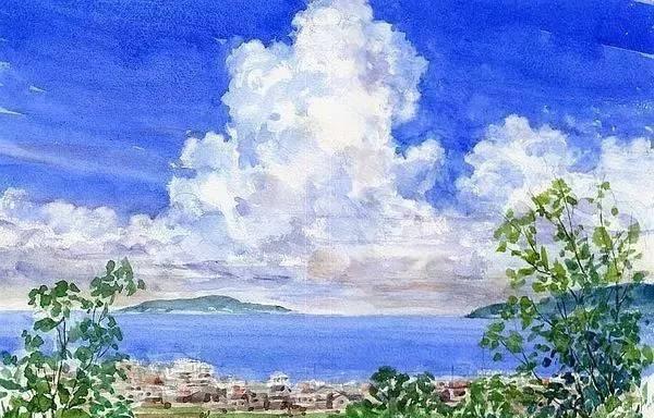 日本著名水彩画家笔下的风景绘,干净又美妙!