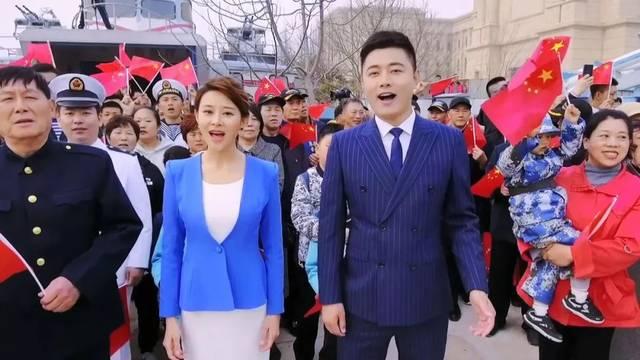 青島電視臺節目主持人 劉珊秀 徐建圖片