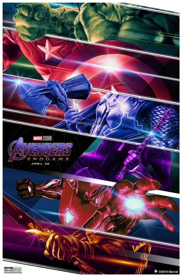 《复仇者联盟4》初代六巨头新版海报放出