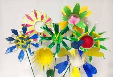 100款幼儿园美丽纸杯花手工制作方法及过程!
