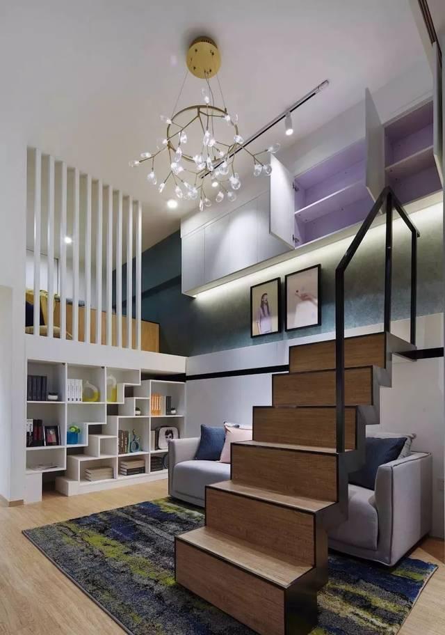51平loft小户型现代风,利用3.6米的层高做两间房!图片