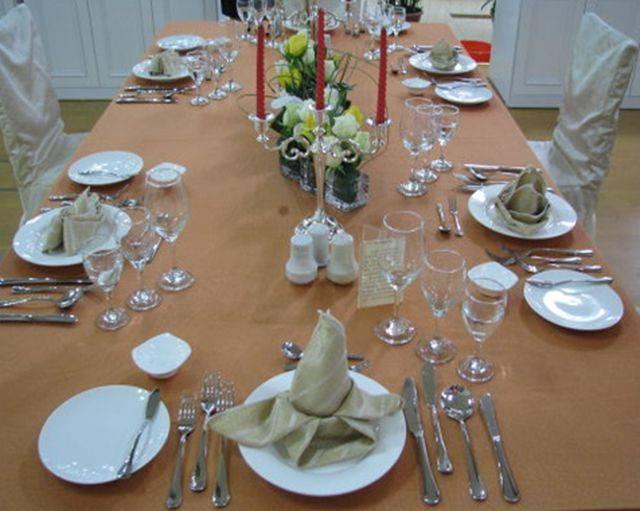 专业| 酒店西餐宴会摆台的程序及规范&正餐摆台标准(收藏)图片