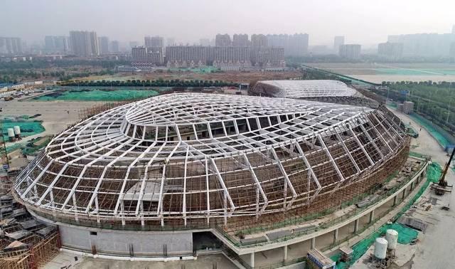 唐山新体育中央建啥样了?来看高清航拍图!