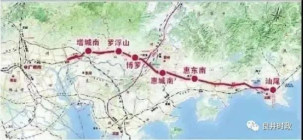 惠东新高铁站原来在这里,要动工