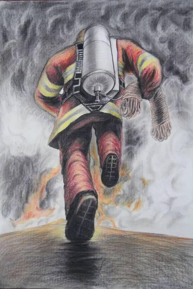 """""""消防安全 伴我成长""""主题绘画优秀作品展播"""