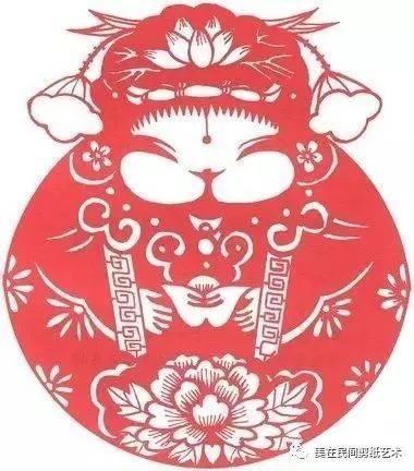 【一团和气】——剪纸图说中国传统吉祥寓意之74