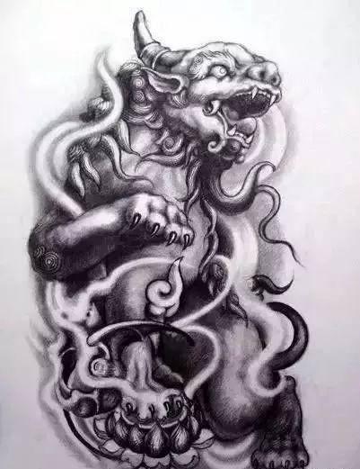 我是雕刻师,纹身手稿:唐狮素描雕刻素材网洗浴v纹身图片