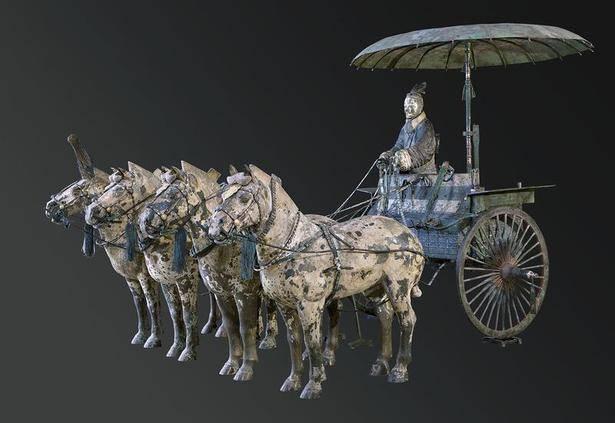 陕西成功修复2800年前的青铜豪车