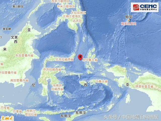 印尼马鲁古海发生6.8级地震