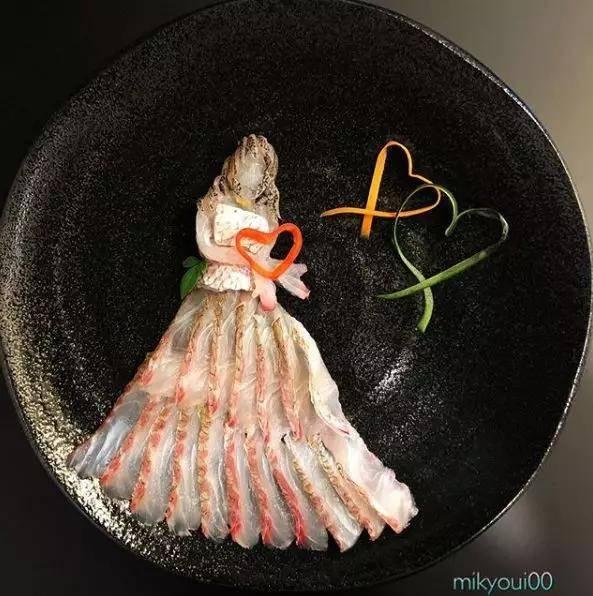 日本av人體艺术_日本一位网友@mikyoui00 在ins上分享了许多精美的生鱼片摆盘艺术