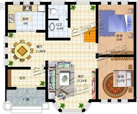 三套100平方米房屋设计效果及平面图纸,你喜欢哪一款?图片