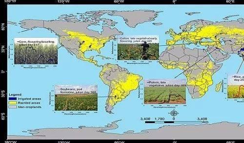 另外,我们还可以通过卫星影像,来尽量预防农作物的大面积消失,增加农