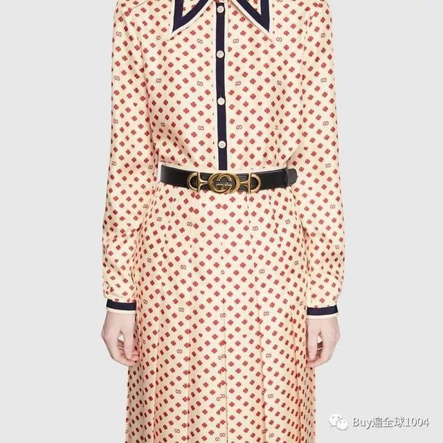 (滑动查看细节图) dionysus系列饰水晶马刺扣皮革腰带 韩国免税店图片