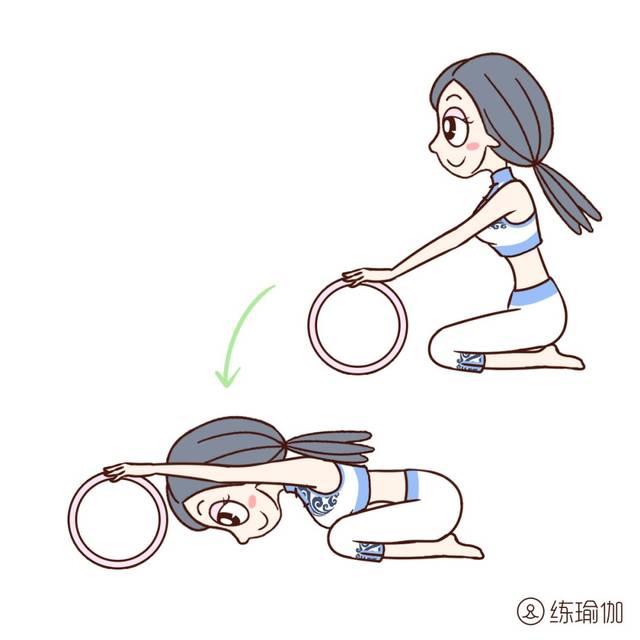 这个体式对于肩膀僵硬或者有肩周炎的人群有很好的缓解效果 ▼后弯图片
