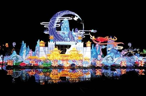 南宁青秀山风景区大型灯展9月6日开幕