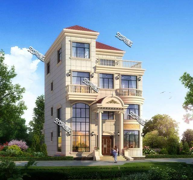 建房说四层农村别墅图纸设计,欧式风格