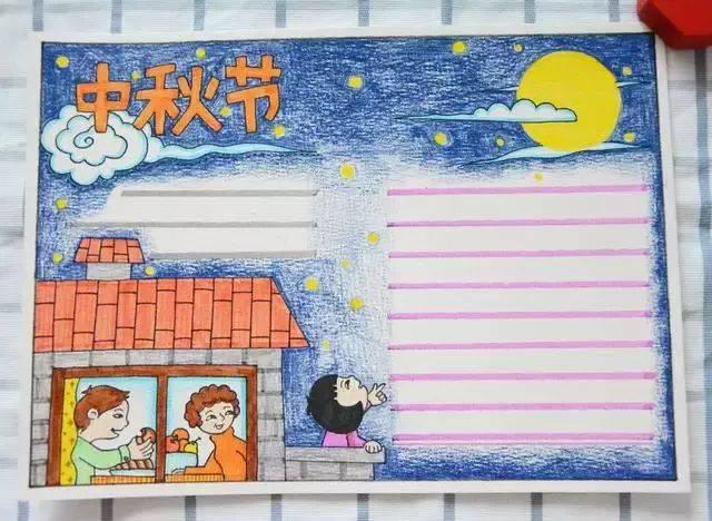 68张中秋节手抄报孩子,好看易画,快给教程保存吧!idl视频模板图片