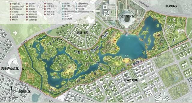 东安湖公园总平面图