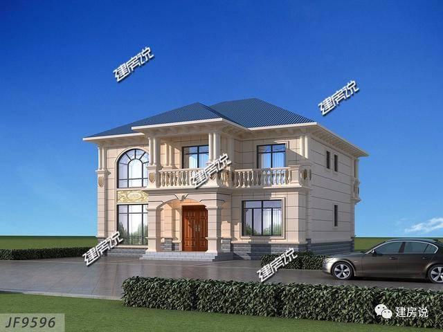 建房说二层欧式农村别墅设计图,占地160平