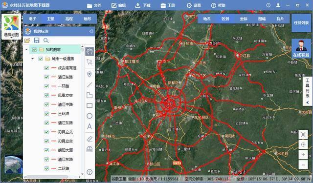 如何在谷歌地图上绘制矢量道路线并导出为图片