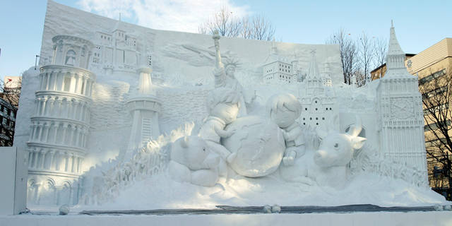 另外,每年冬季的札幌冰雪节也是北海道最重要的节目.图片