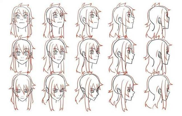 最简单的发型怎么画