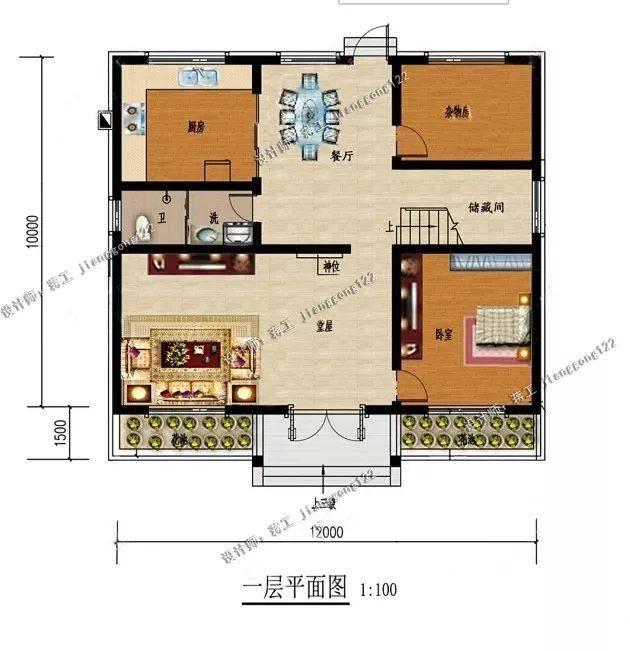 6套农村自建房设计图,20-25万造型简单,农村施工队都能建好